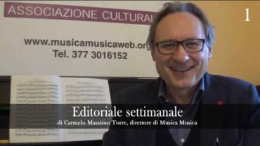 Editoriale Settimana 1
